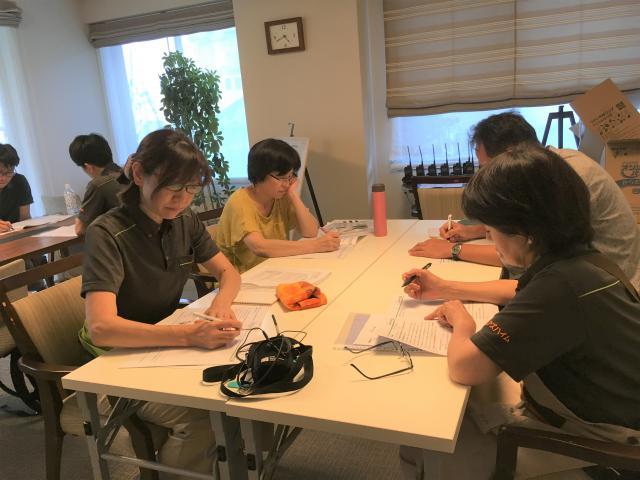 【AH町田】7月のラウンド研修は、介護予防・事故予防・感染予防など、ご入居が安心して暮らせる環境作りについて学びました。