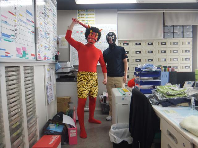 【AH南浦和】赤鬼と黒鬼(?)がホームに現れました!ご入居者と鬼たちの、熱い戦いが始まります!
