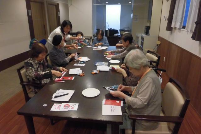 【AH文京白山】月に一度開催される手芸教室☆参加者は、毎回何を作るかとても楽しみにされています♬