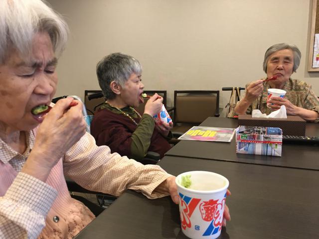 【AH三郷】梅雨の中休みに、アイスクリームパーティーを行いました♬