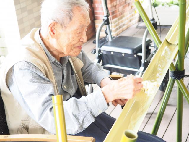 【AH町田】竹を使った流しそうめんは、風情がありますね♬