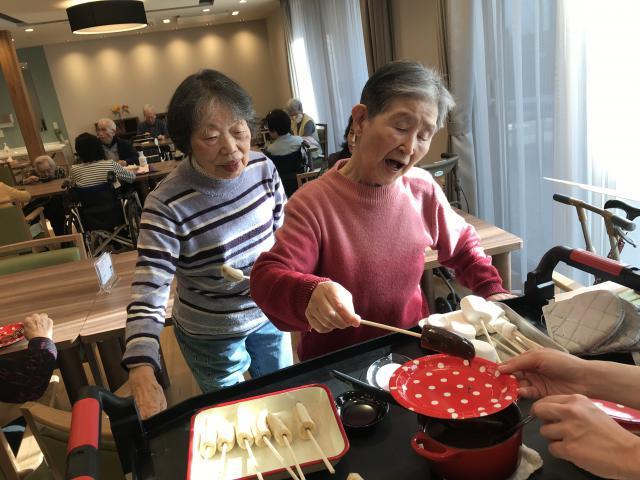 【AH上福岡】バレンタインにちなみ、チョコフォンデュパーティーを開催しました♡