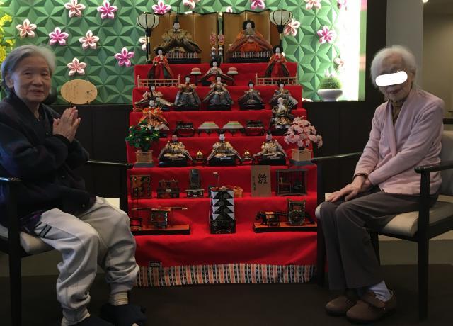 【AH三郷】今年のひな祭りレクリエーションは、3日間かけて行われました♬