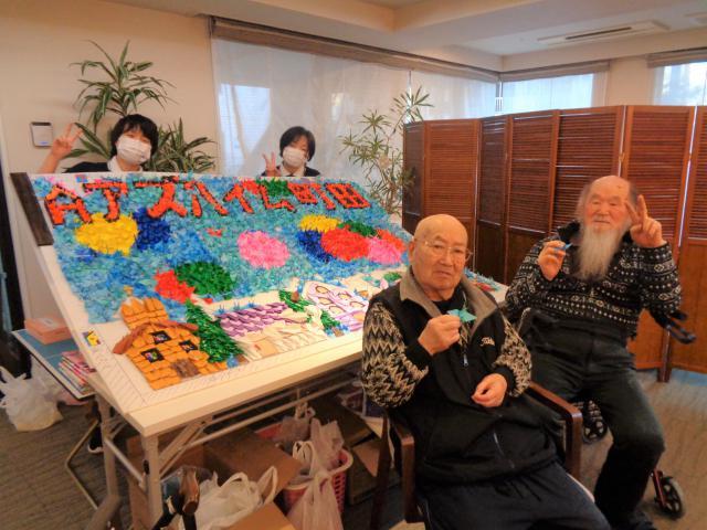 【AH町田】のんびり鶴を折りながら100歳まで生きたい。折った鶴を役立てて欲しい。その思いが形になりました!