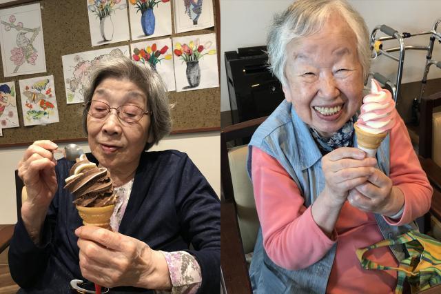 【AH川崎中央】涼を先取り!ソフトクリーム作りレクリエーションを行いました!