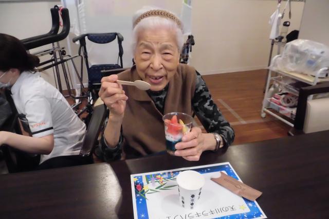 【AH文京白山】6月には七夕のおやつ、7月にはプリン・ア・ラ・モードを作りました♬